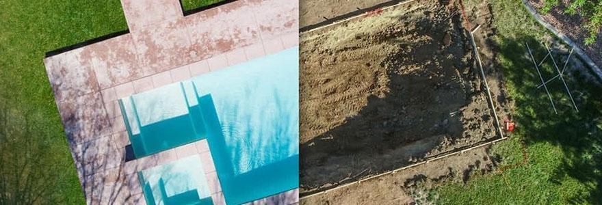 Construction d'une piscine extérieure